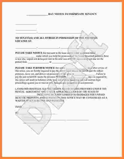 Eviction Notice Sample. Notice Of Eviction Letter Template Best ...