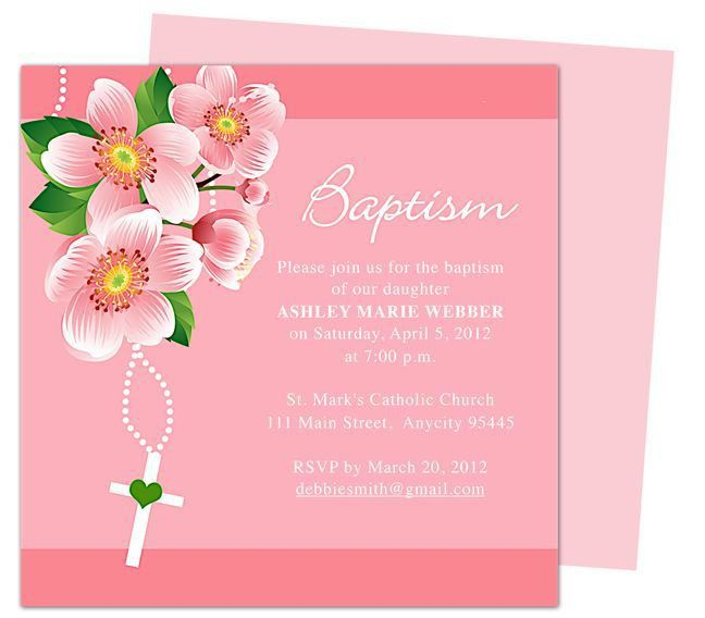 21 best Printable Baby Baptism and Christening Invitations images ...