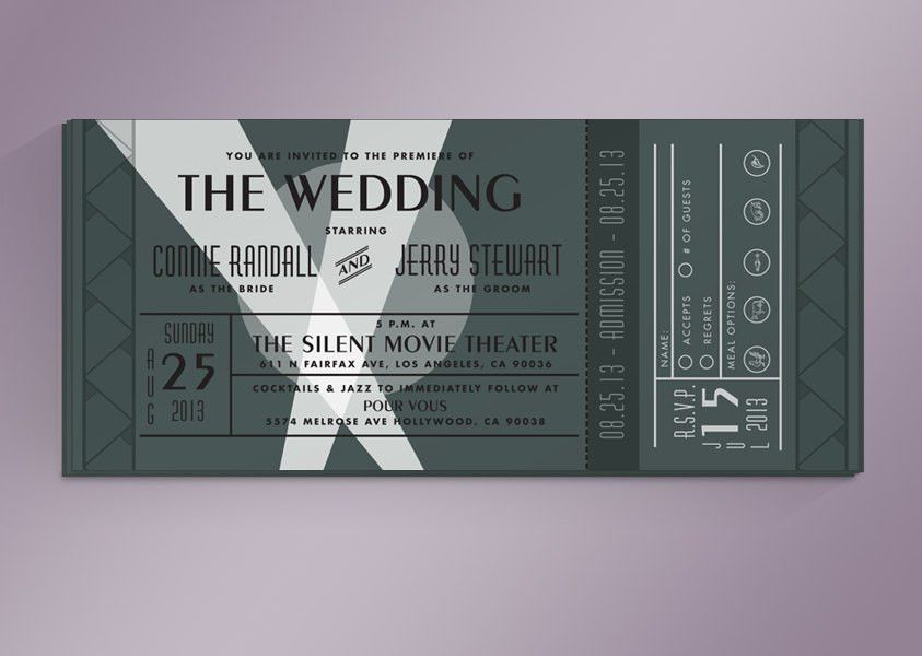 Movie Themed Wedding Invitation Templates | Sunshinebizsolutions.com