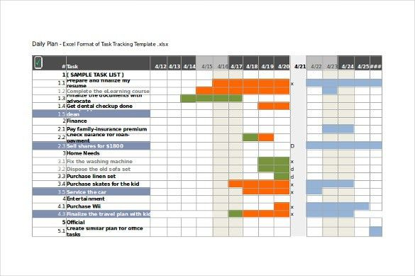 Task Tracking Template – 10+ Free Word, Excel, PDF Format Download ...