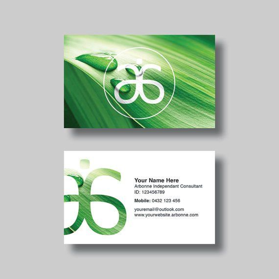 Arbonne Business Card Leaf Digital Design