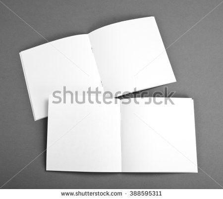 Blank Brochure On Grey Background Stock Photo 400725208 - Shutterstock