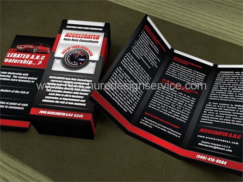Financial Brochure Design - Car Financing Company - Examples, Free ...