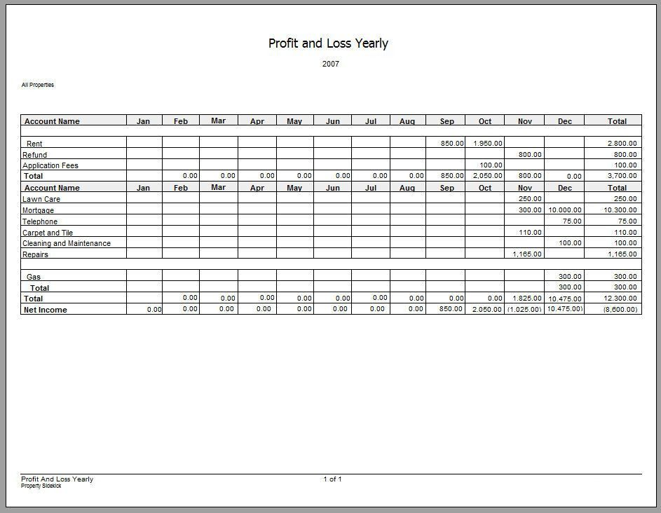7 Profit and Loss Statement Templates - Excel PDF Formats