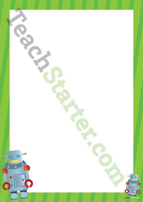 Robots Page Border - Word Template Teaching Resource – Teach Starter