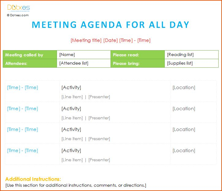 8+ meeting schedule template - bookletemplate.org