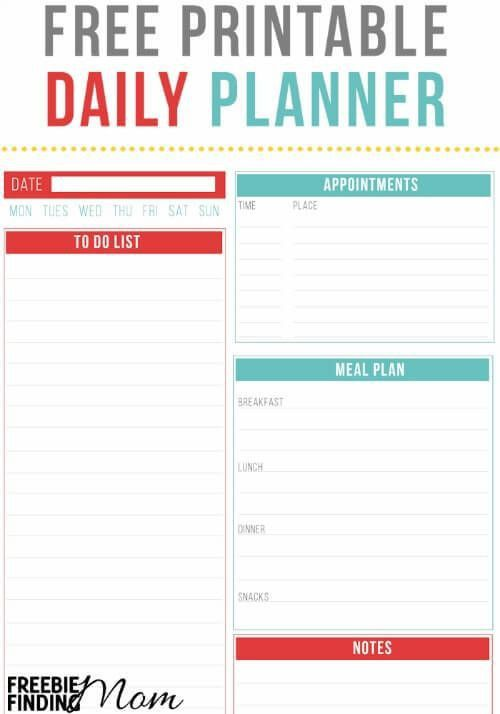113 best Free Printable Daily Schedule Planners images on ...