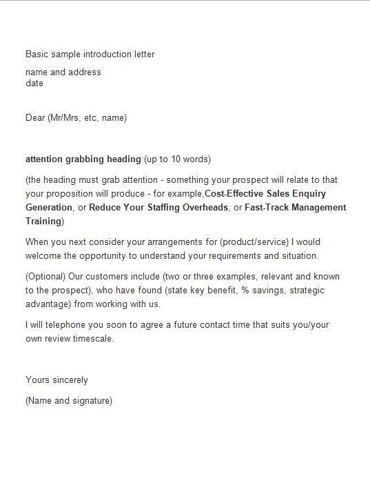 Introduction Letter To New Customer - Mediafoxstudio.com