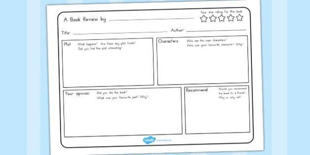 Review Writing Template - australia, book, review, write