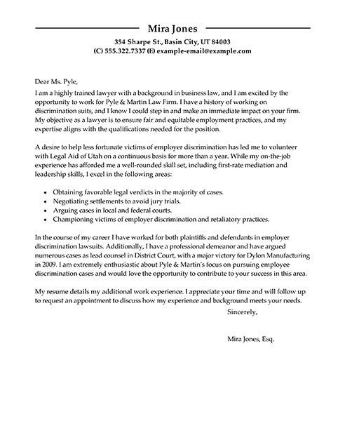 Modern Cover Letter Examples | The Best Letter Sample