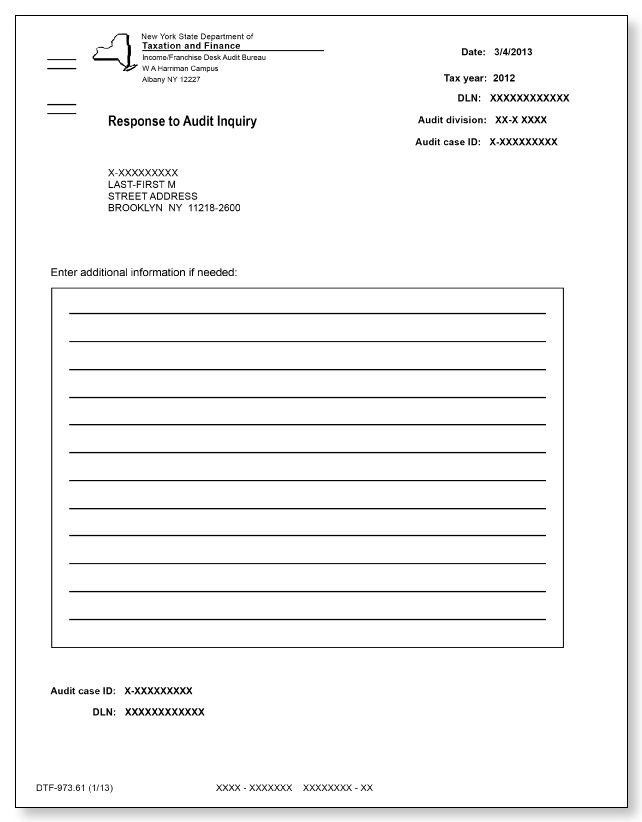New York DTF 973 Letter Sample 1