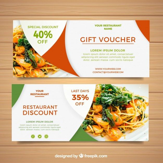 Gift voucher design Vector | Free Download