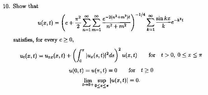 Counter example to uniqueness for parabolic equations by Milan ...