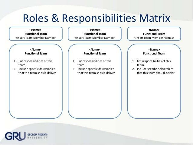 Roles And Responsibilities Template - Best Letter Sample