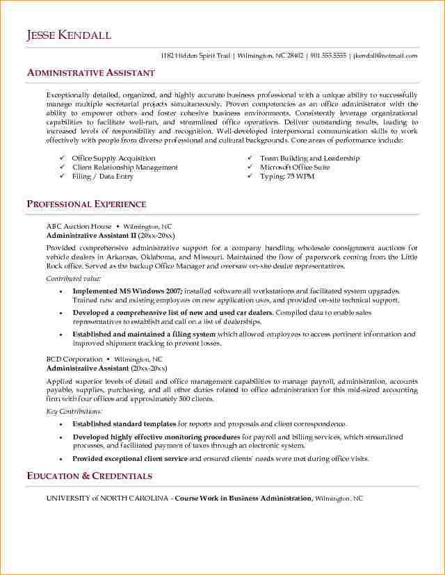 20+ Good Sample Resume | Curriculum Vitae Jan 2012,Administrative ...