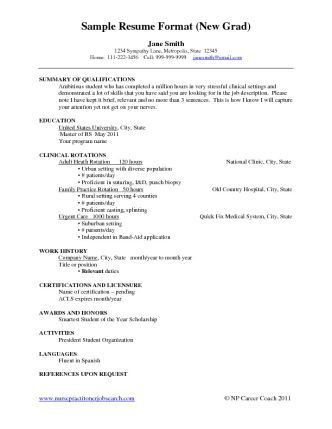 New Grad Nursing Resume Sample | new grads cachedapr list build ...
