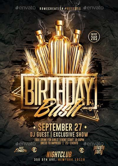 Download Top 50 Birthday Flyer Templates Collection on Flyersonar