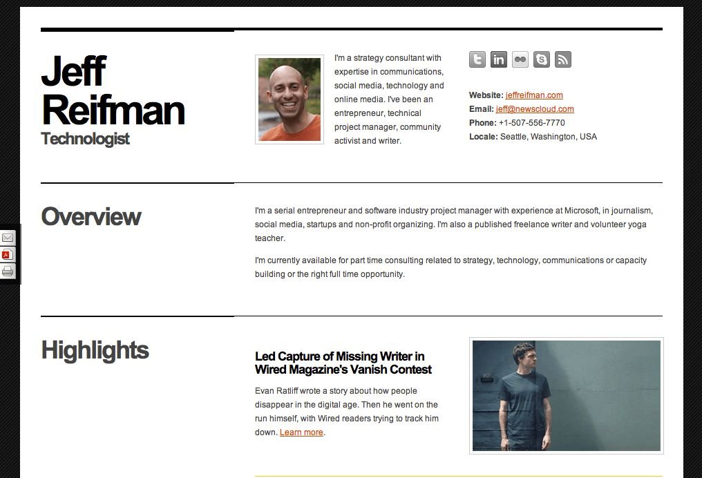 resume website example resume cv cover letter. html resume website ...
