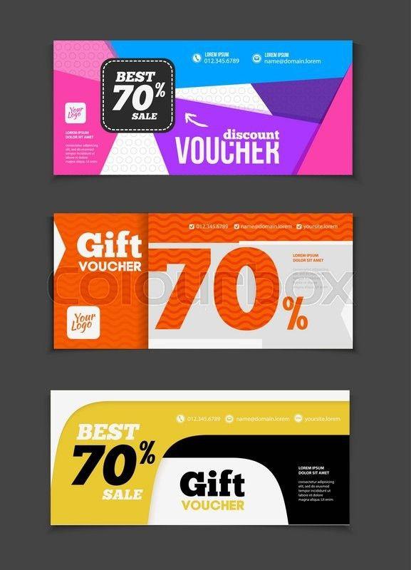 Shop Discount Vouchers Gift Voucher Vector Set Sale Voucher – Discount Voucher Design