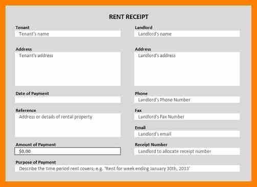 7+ rent receipt in excel format | target cashier