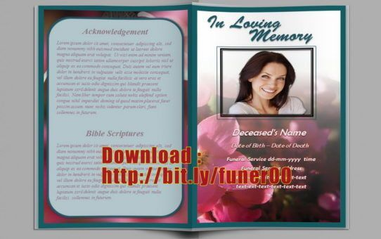 frame Archives - Free Funeral Program Template Microsoft Word