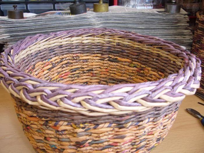 Плетение из газеты косички