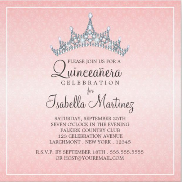 Quinceanera Invitations Templates | badbrya.com