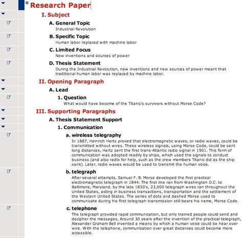 Social Studies Graphic Organizer and Outline Examples from ...
