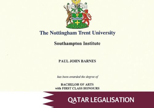 How to legalise a UK Degree Certificate for use in Qatar