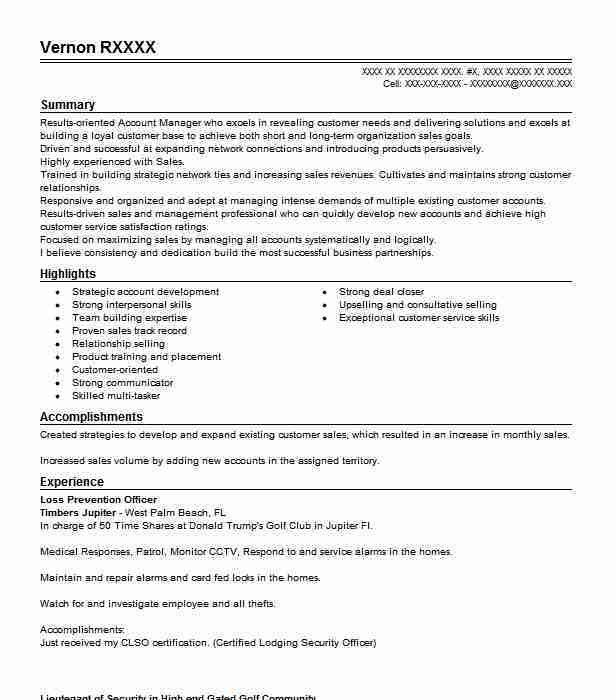 Best Loss Prevention Officer Resume Example | LiveCareer