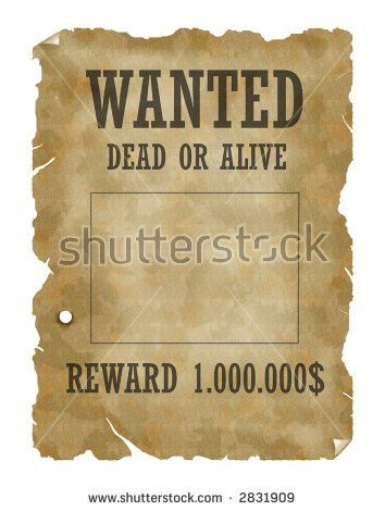 Vector Retro Wanted Poster Template All Stock Vector 172358732 ...
