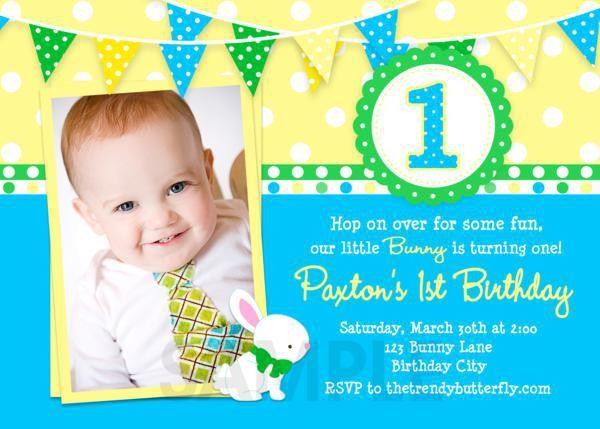 1st Birthday Party Invitation Template - iidaemilia.Com