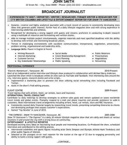 Download Journalism Resume Examples | haadyaooverbayresort.com