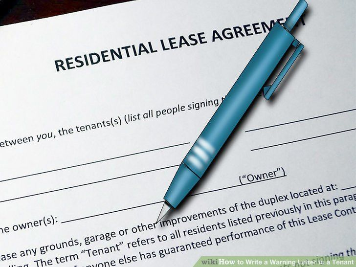 3 Ways to Write a Warning Letter to a Tenant - wikiHow