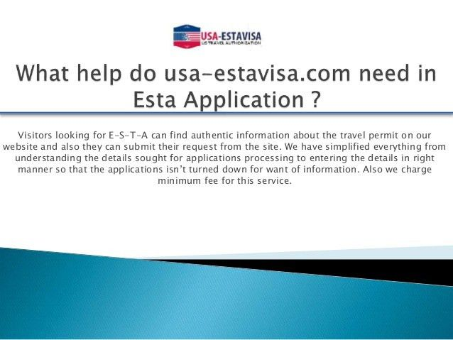 Online Esta Visa Application Form