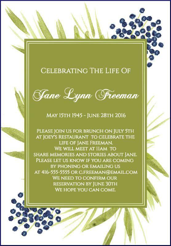 funeral invitations - thebridgesummit.co