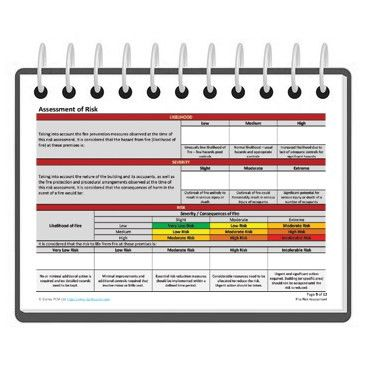 Fire risk assessment form template | Darley PCM