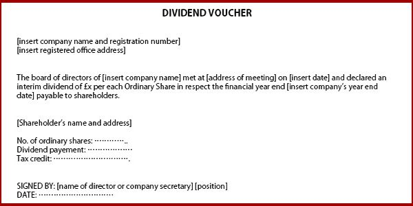 How to issue dividends in a private company limited by shares