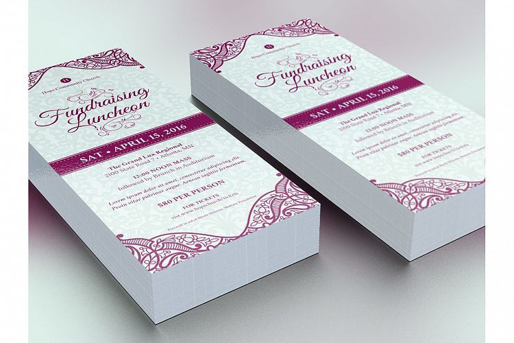 Fundraising Luncheon Flyer Template by   Design Bundles