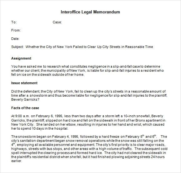 Doc.#585600: Legal Template Word – Legal Memo Template10 Free Word ...
