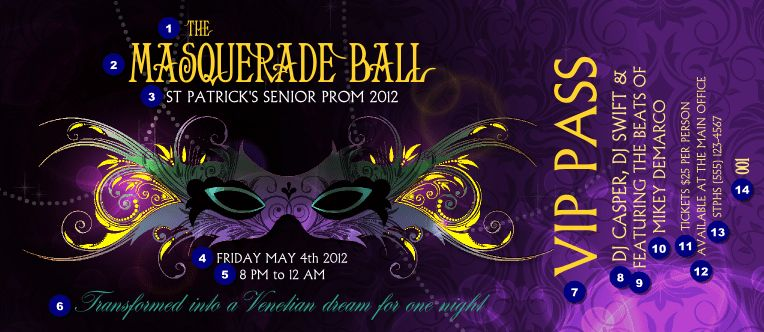 Ticket Sample | masquerade | Pinterest | Masquerades and Ticket ...
