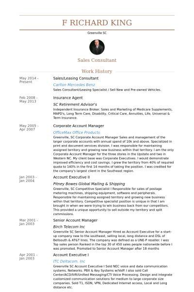 Leasing Consultant Resume samples - VisualCV resume samples database