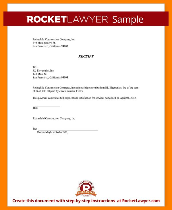 6+ acknowledgement receipt of payment template | joblettered
