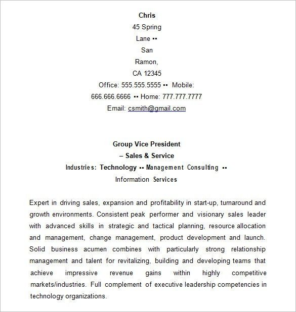 executive resume templates word account executive resume pdf free ...