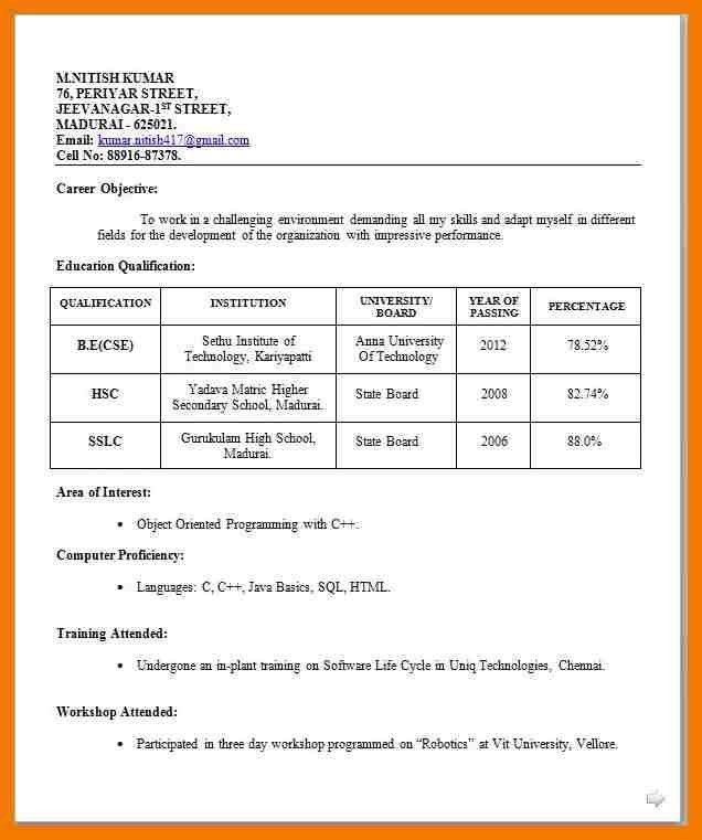 8+ biodata format for teacher job | mailroom clerk