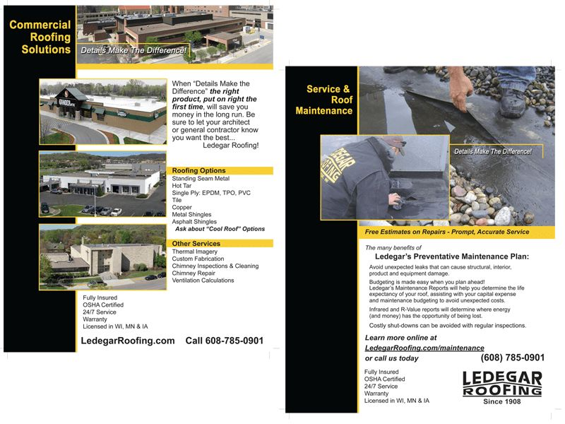 Ledegar Roofing Flyer Insert | BeWebFocused