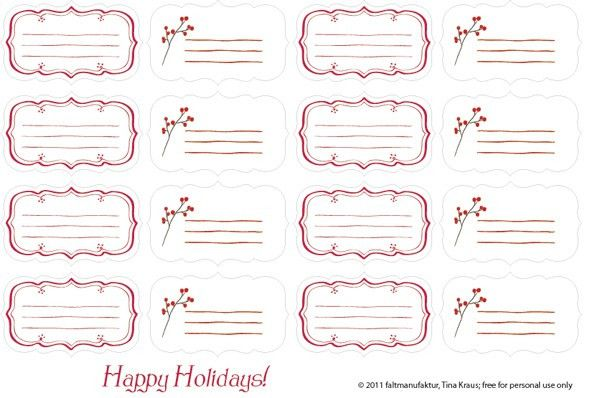 Free mailing label free shipping label template formal word last minute free printable gift tags and labels faltmanufaktur blog negle Images