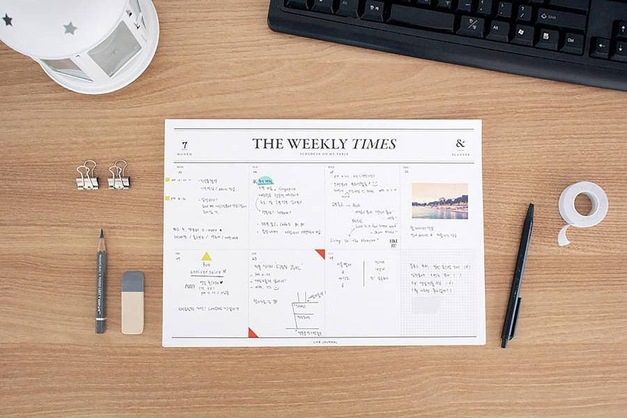 Weekly Times' Desk Planner | Best Planners, Desk pad and Desks ideas