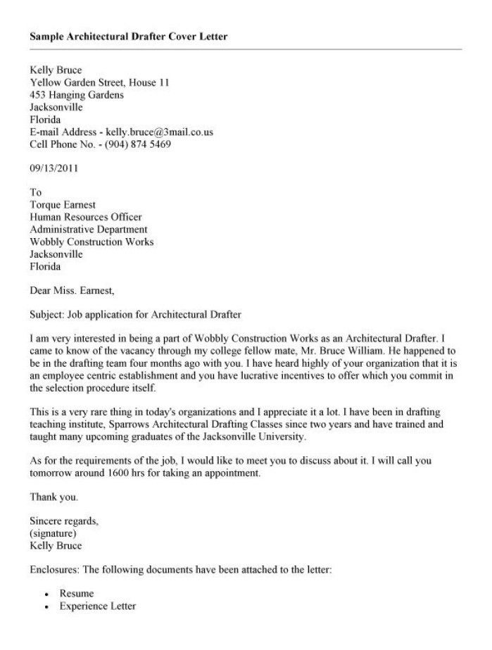 Cover Letter For Autocad Draftsman Cover Letter For Autocad Draftsman ...