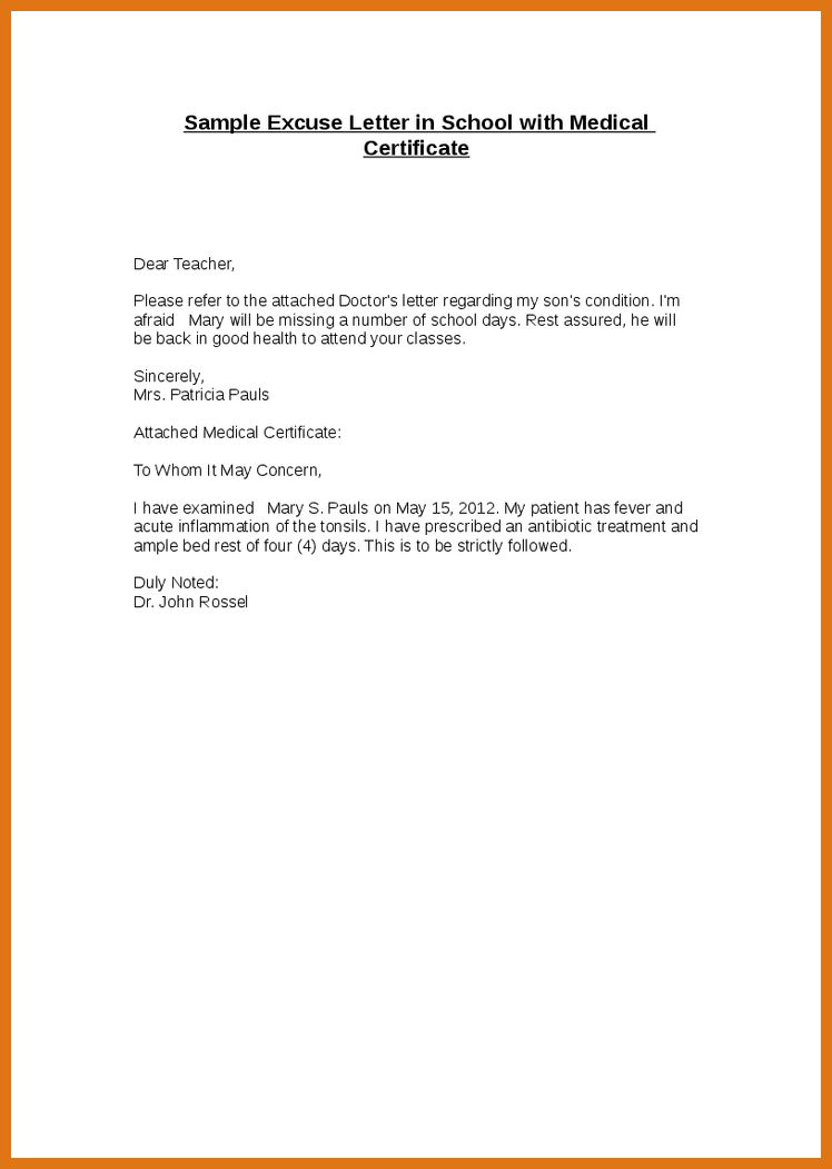 school excuse letter | letter format business